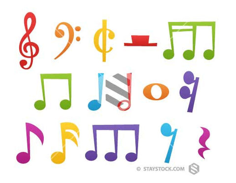 Cartoon Musical Notes