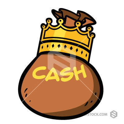 Cash Is King Clipart