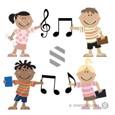 Children Holding Musical Notes