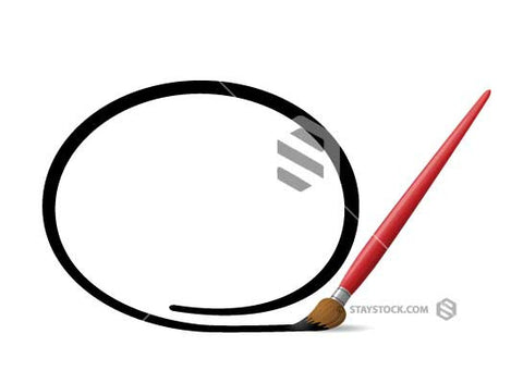 A Paintbrush drawing a circle.
