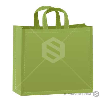 A green cloth shopping bag.