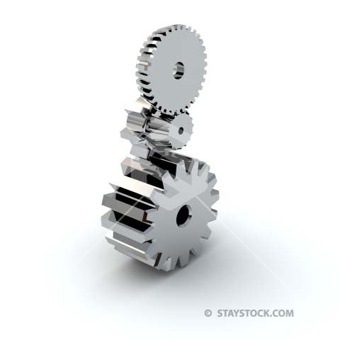 Three cogs stacked on top.