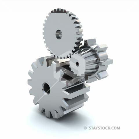 Cogs stacked on top of each other.