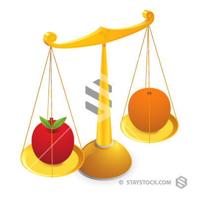 Compare Apple And Orange Scales