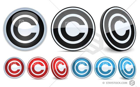 Copyright Symbol Badge in three styles.