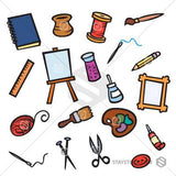 A collection of Craft Items Clipart