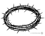 A simple black and white Crown Of Thorns design.