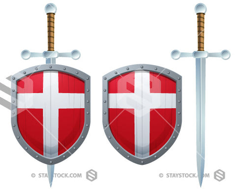 Denmark Cross Shield Sword