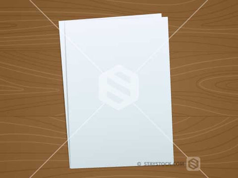 Blank Documents On Desk