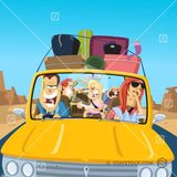 A family road trip goes horribly wrong cartoon.