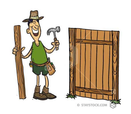 Fence Builder cartoon
