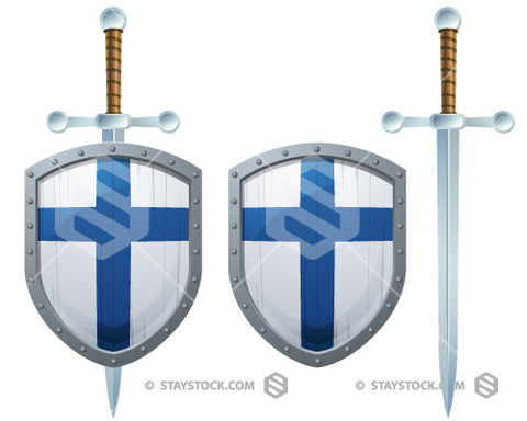 Finland Cross Shield Sword