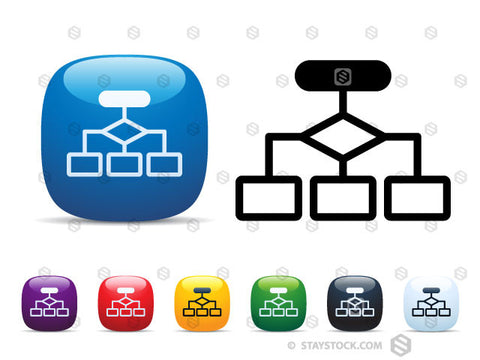 Flow Chart Icon Set Staystock