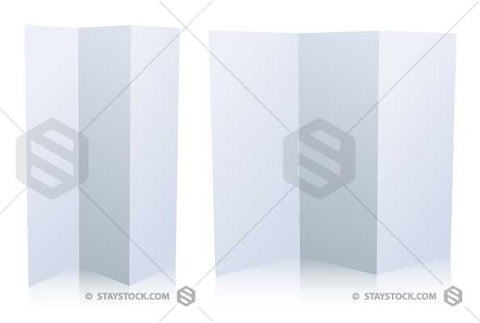Folded White Brochure