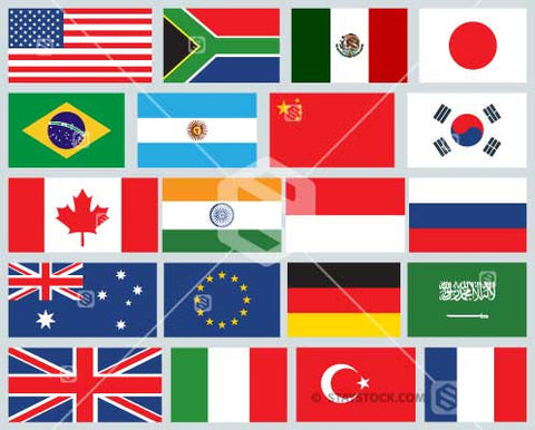 National Flags of the G20.