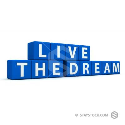 Live The Dream Text Blocks