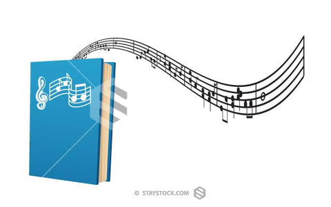 Music Book Blue