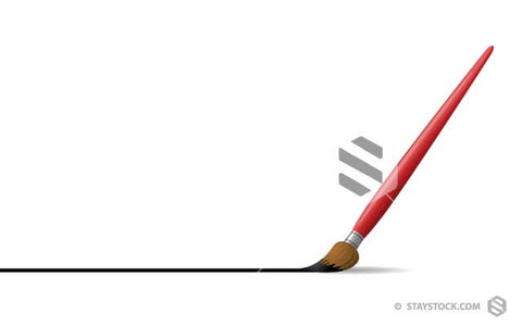 Paintbrush Drawing Black Line