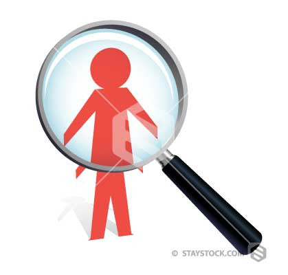 Paper Cutout Magnifying Glass