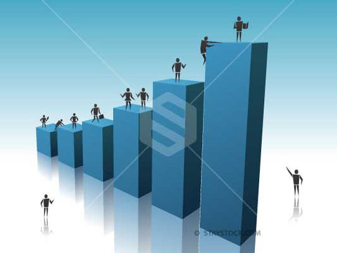 People Climb Upward Graph
