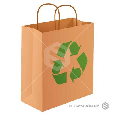 Recycle Paper Shopping Bag