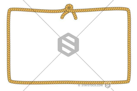 Rope Rectangle Border