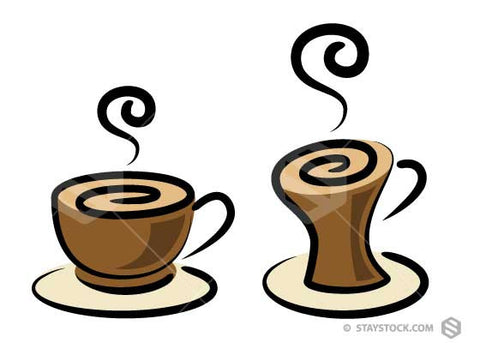 Scroll Coffee Cup Design