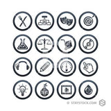 Simple Icon Circles