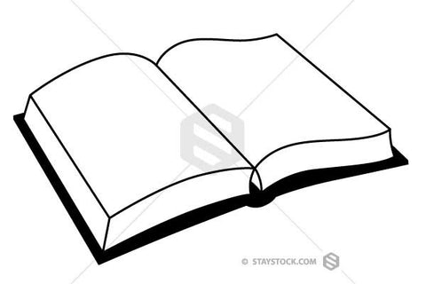 Simple Open Book Clipart