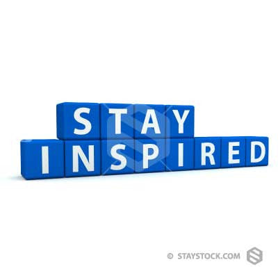 Stay Inspired Text Blocks