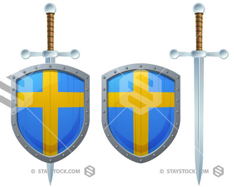 Sweden Cross Shield Sword