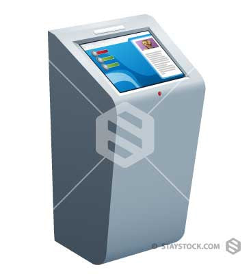 Touch Screen Kiosk Stand