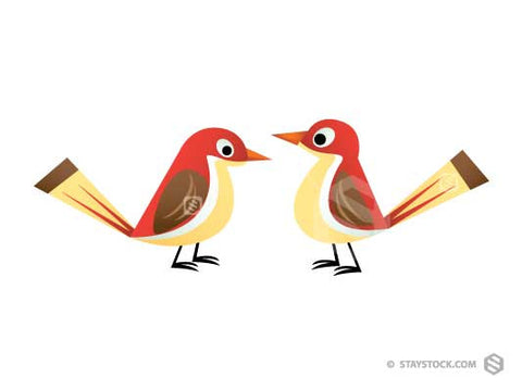 Two Small Birds