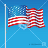 USA Flag On Pole