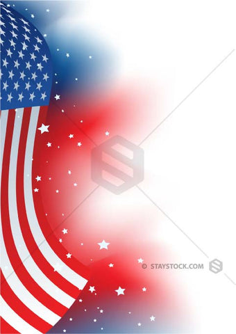 USA flag design melts into a background design.