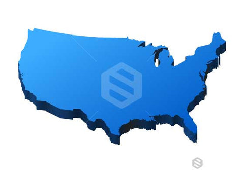 USA Thick 3D Map