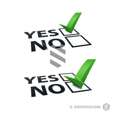 Yes No Tick Vector