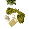 Mossy Green Eco DIY Macrame Plant Hanger Kit