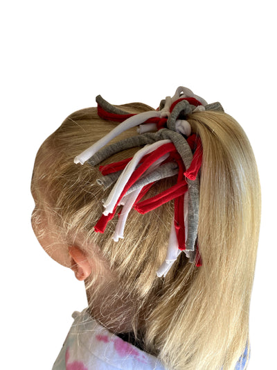 Game Day Red/Gray/White Eco DIY Scrunchie Kit