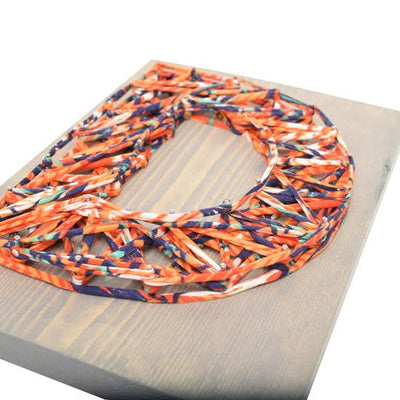 Orange Crush Eco Initial DIY String Art Kit