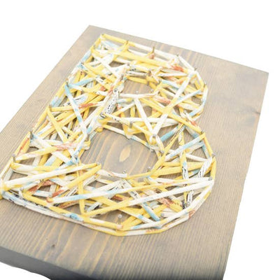 Sunny Day Eco Initial DIY String Art Kit