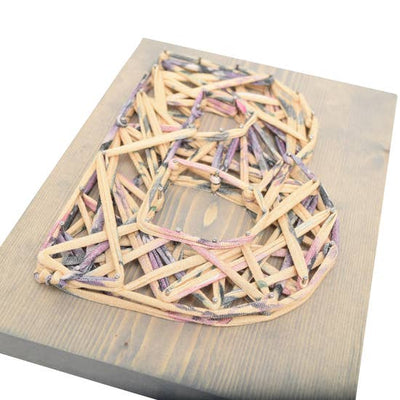 Violet Beige Eco Initial DIY String Art Kit