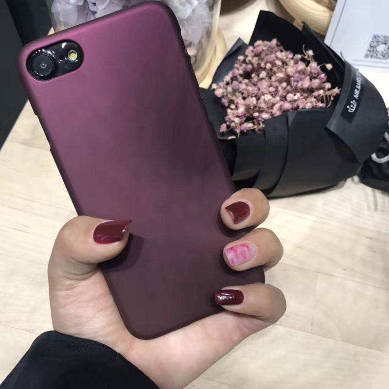"""FREE"" 🎅New Arrival!!  🎅Luxury Wine Red Case For iphone 7 Case For iphone 6 6S 7 7 Plus 5 5S SE Phone Cases🎅"
