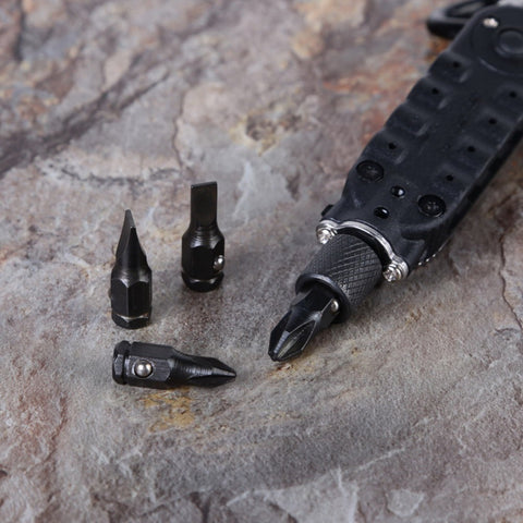 Multifunction Small Screwdriver Sets Mini EDC Tools Pocket Keychain Screwdriver With Phillips Slot Hex Screwdriver and LED Light