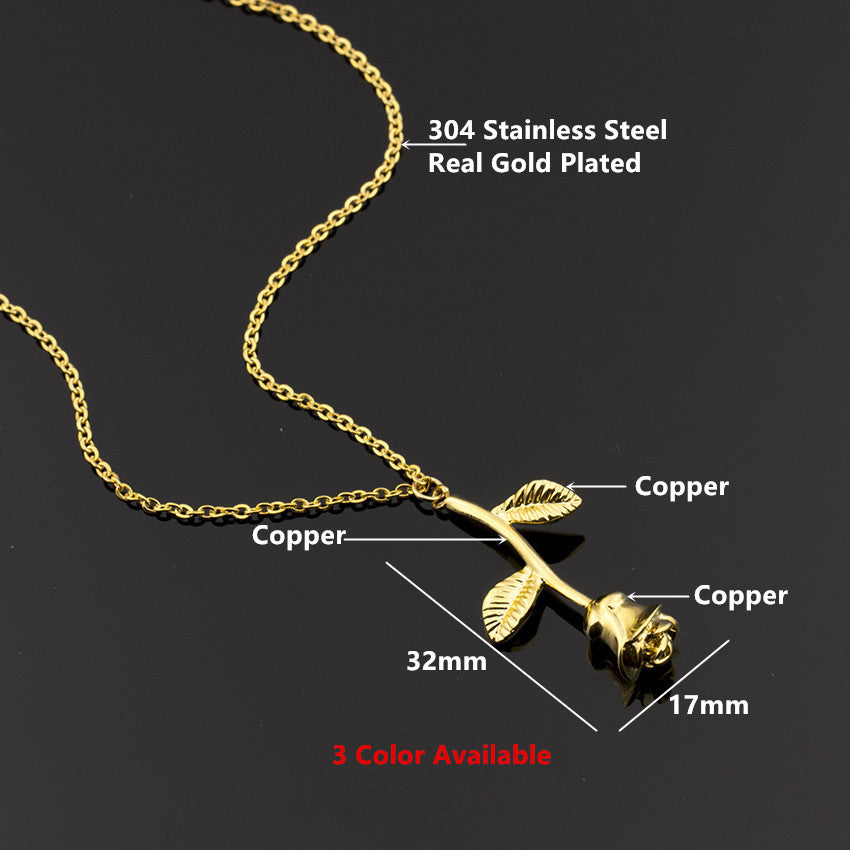 best products necklace friend gold collier charm pendant flower women chain jewelry choker metal boho rose stainless steel