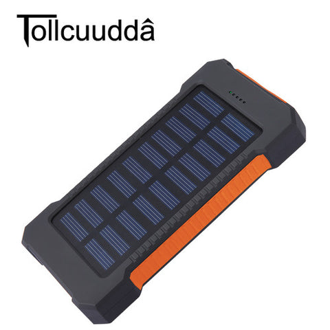 EXTREME PERFORMANCE!  Waterproof 10000Mah Solar Power Bank Solar Charger Dual USB Power Bank with LED Light for Mobile Phone Universal