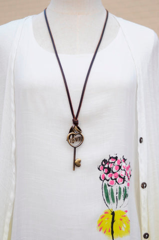 HALF PRICE + Free Shipping!!  GRAB YOURS NOW!?? Love Heart Key Long necklace