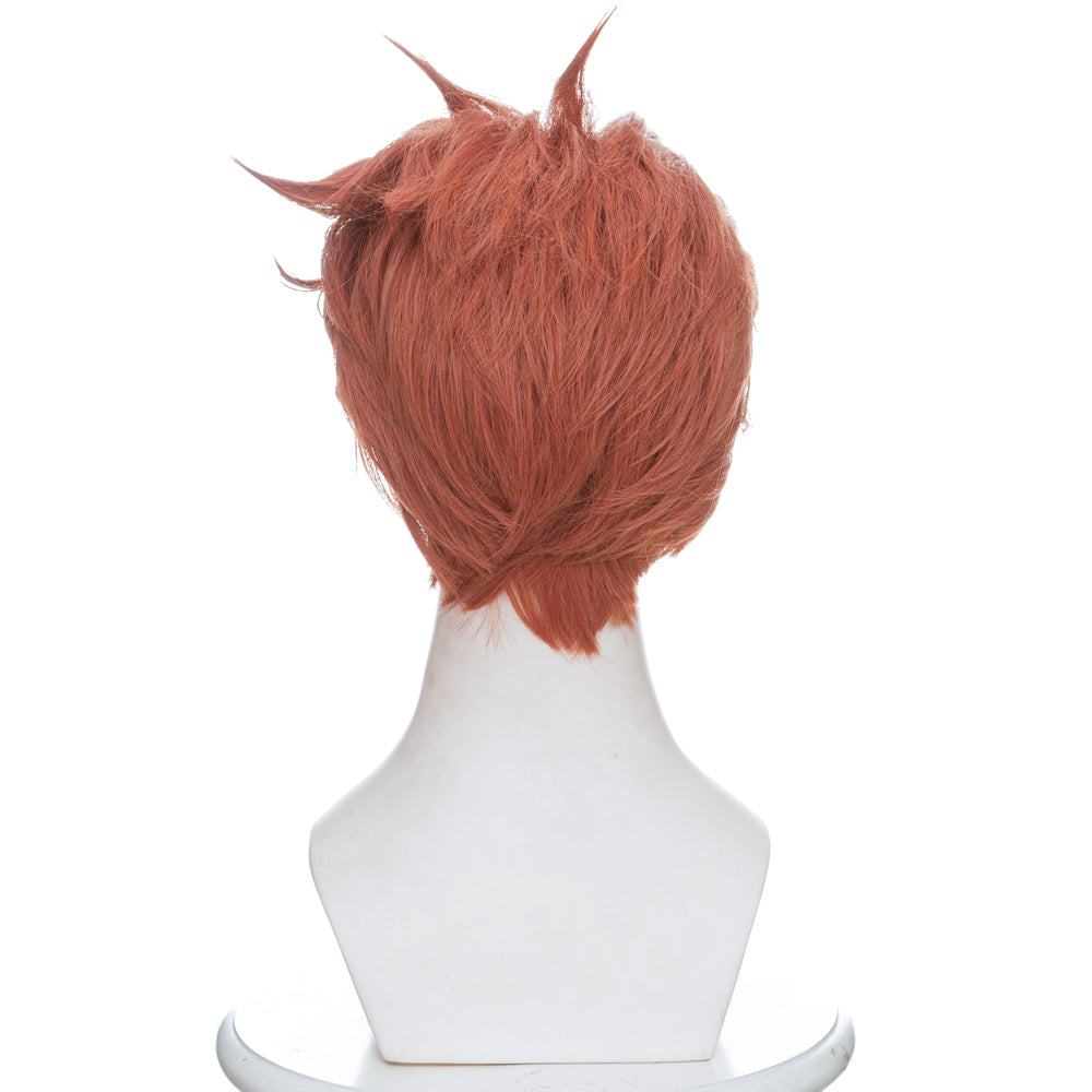 Overwatch Moira Short Mixed orange Anime Cosplay Wigs 419G