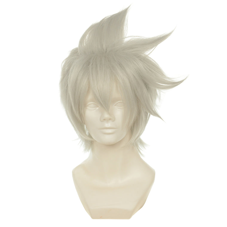 Soul Eater Evans Grey Short Heat Resistant Fiber Cosplay Anime Wigs 374A