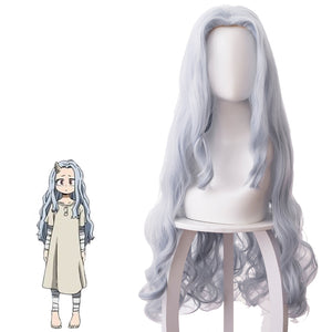 Rulercosplay My Hero Academia ERI Gray Long Curly Cosplay Wigs, 35.43''
